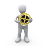 Person Holding A Film Reel Royalty Free Stock Images