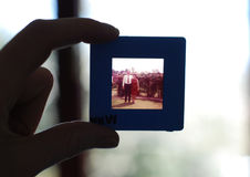 Person Holding Framed Photo of Man and Woman Royalty Free Stock Images