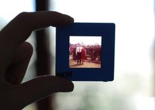 Person Holding Framed Photo of Man and Woman Stock Photos