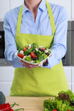 Person holding fresh salad Royalty Free Stock Image
