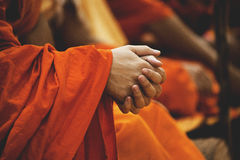 Person Holding Hands Together in Selective Focus Photography Stock Image