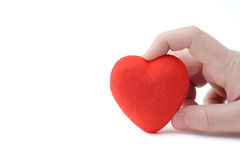 Person holding a heart Stock Images