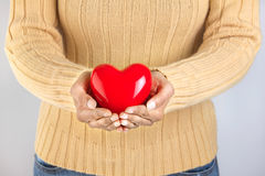 Person holding a heart Royalty Free Stock Photo