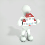 Person holding house Royalty Free Stock Photos