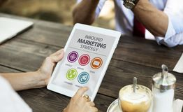 Person Holding Inbound Marketing Strategy Book Stock Photography