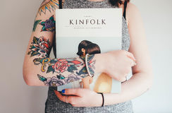 Person Holding Kinfolk Magazine Stock Photography