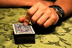 Person Holding Playing Cards Stock Images