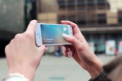 Person Holding Silver Iphone 5s Stock Images