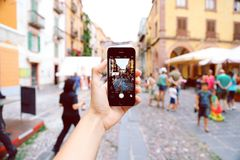 Person Holding Space Gray Iphone 5s Royalty Free Stock Image
