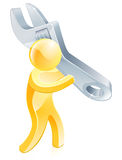 Person holding spanner Stock Images