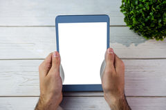 Person holding tablet computer Stock Photos