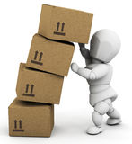 Person holding up boxes Royalty Free Stock Photo