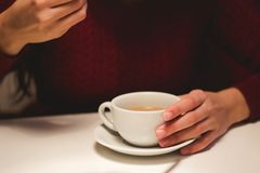 Person Holding White Ceramic Cup Stock Photos