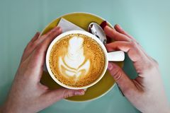 Person Holding White Ceramic Cup Royalty Free Stock Image