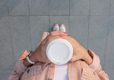 Person Holding White Disposable Cup Royalty Free Stock Images
