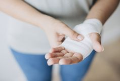 Person Holding White Hand Wrap