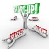 Person Holding Word Best Business de lanzamiento Person Entrepreneur W stock de ilustración