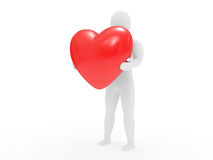 The person holds heart in hands Stock Image