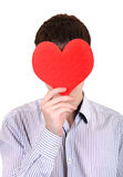 Person holds Red Heart Shape Stock Image