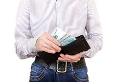 Person holds Russian Currency Stock Photography