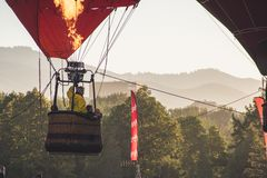 Person in Hot Air Balloon royalty free stock images