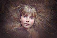 Person, Human, Female, Face, Eyes Royalty Free Stock Photography