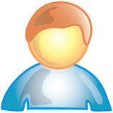 Person icon. Stylized person icon or symbol Royalty Free Stock Photos