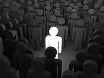 Person Icon Leader brillante differente Fotografia Stock Libera da Diritti