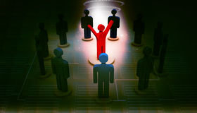 person icon leadership and team Royalty Free Stock Photos