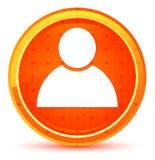 Person icon natural orange round button. Person icon isolated on natural orange round button royalty free illustration