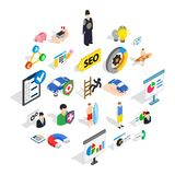 Person icons set, isometric style. Person icons set. Isometric set of 25 person vector icons for web isolated on white background Royalty Free Stock Photography