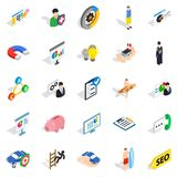 Person icons set, isometric style Royalty Free Stock Photos