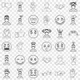 Person icons set, outline style. Person icons set. Outline style of 36 person vector icons for web for any design vector illustration