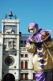 Person im Kostüm am Karneval von Venedig 2011 Lizenzfreie Stockfotos