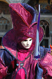 Person im Kostüm an Venedig-Karneval 2011 Stockfoto