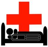 Person im Krankenhausbett Stockfotos