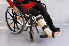 Person im Rollstuhl Stockfotografie