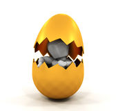 Person inside Easter egg Royalty Free Stock Image