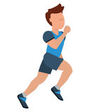Person jogging icon design Stock Images