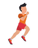 Person jogging icon design Royalty Free Stock Photography