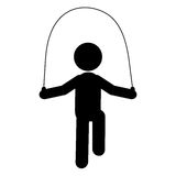 Person jumping rope pictogram icon Royalty Free Stock Images