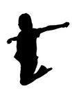 Person jumping up in the air Stock Photography