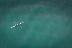 Person on Kayak Aerial View Royalty Free Stock Image