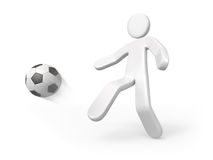 Person kick the ball Stock Image