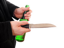 Person with the Knife closeup Stock Photography