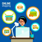 Person laptop online shopping concept Royalty Free Stock Photo