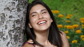 Person Laughing Foto de Stock Royalty Free