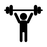 Person lifting icon Stock Photo