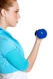 Person Lifting Weights Stock Image