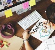 Person Light Bulb Graphic Concept creativo Fotografía de archivo